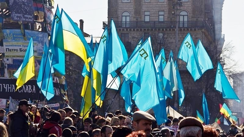 Rally in Kyiv, Ukraine