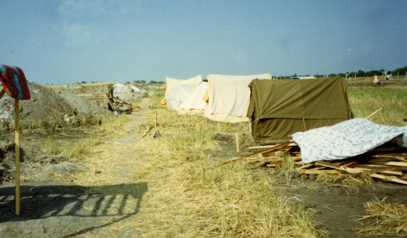 A tent city outside of Simferopol
