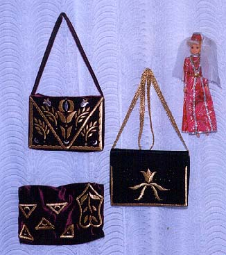 Gold emroidered items
